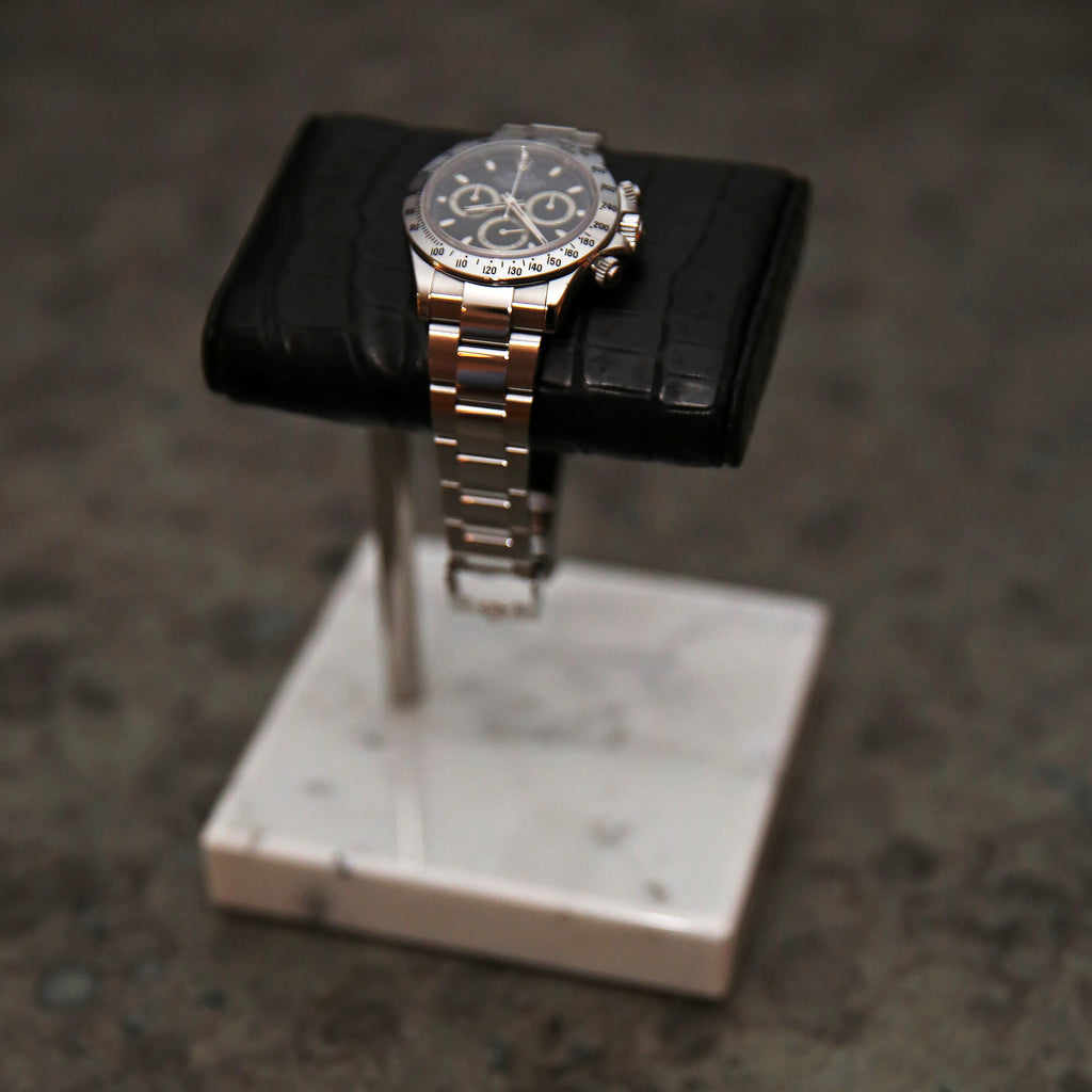 The Watch Stand - Silver - Crocodile