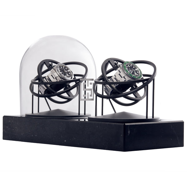 Watch Stand Double Black watch winder