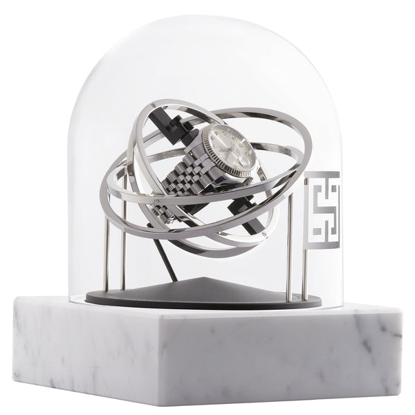 Watch Winder - One Planet Double Axis - White