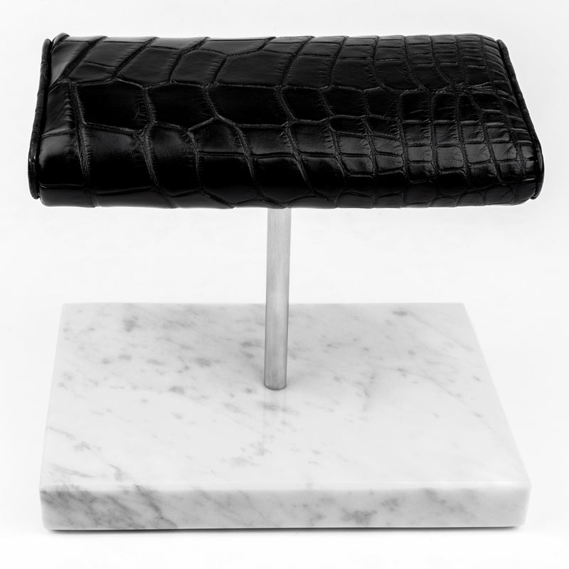 The Watch Stand Duo - Silver - Alligator