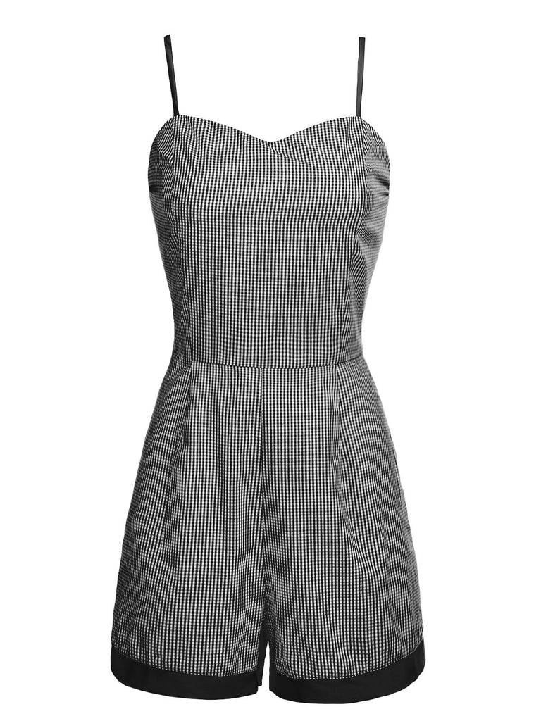 1950ER PLAID SPAGHETTI JUMPSUITS UND RÖCKE SET
