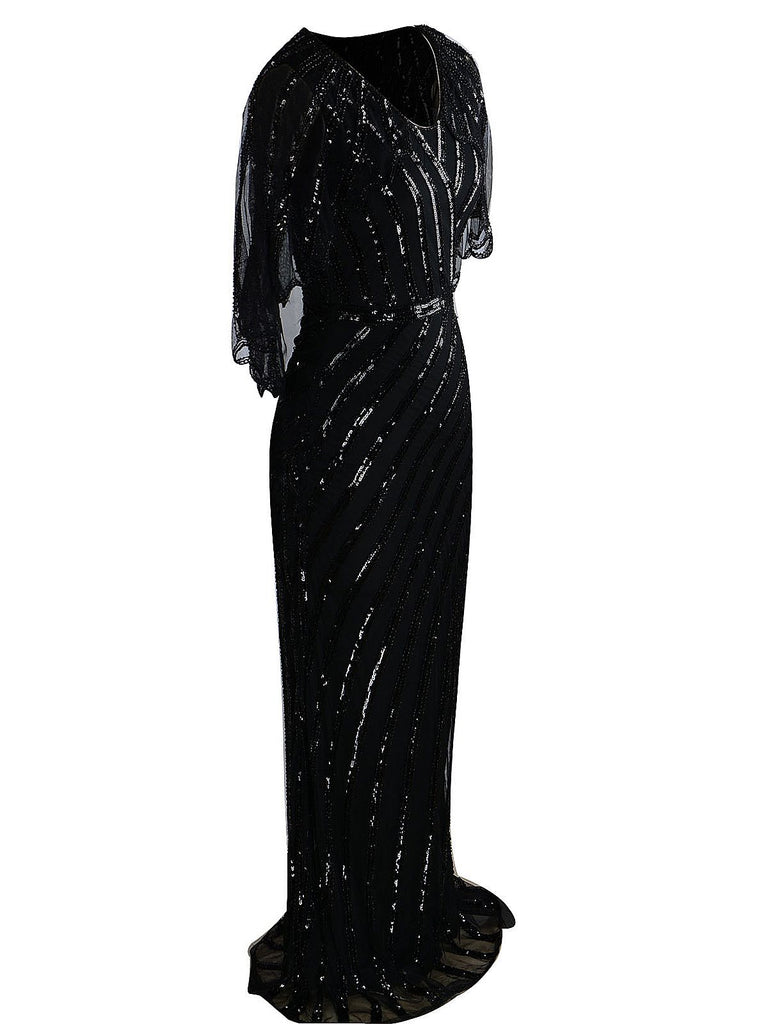1920ER PAILLETTEN ELEGANT PARTY ABENDKLEID