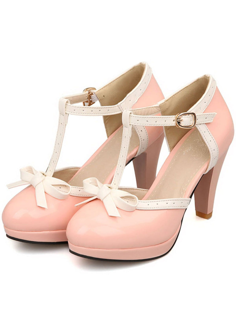 VINTAGE BOW HIGH HEEL SANDALS