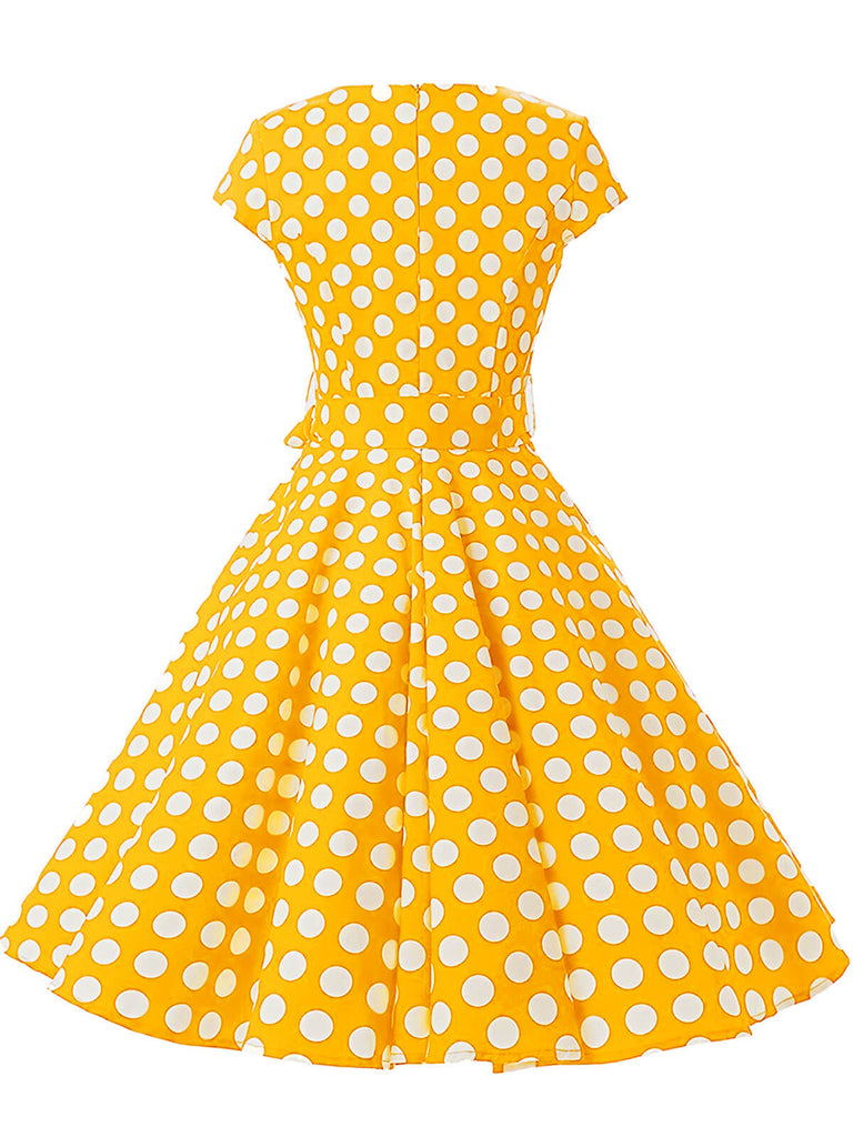 VINTAGE 1950ER POLKA DOT SWING KLEID
