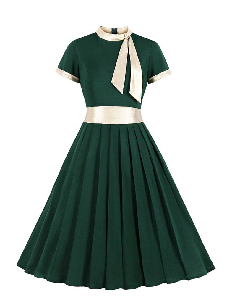 1950ER BOW HOHE TAILLE SWING KLEID