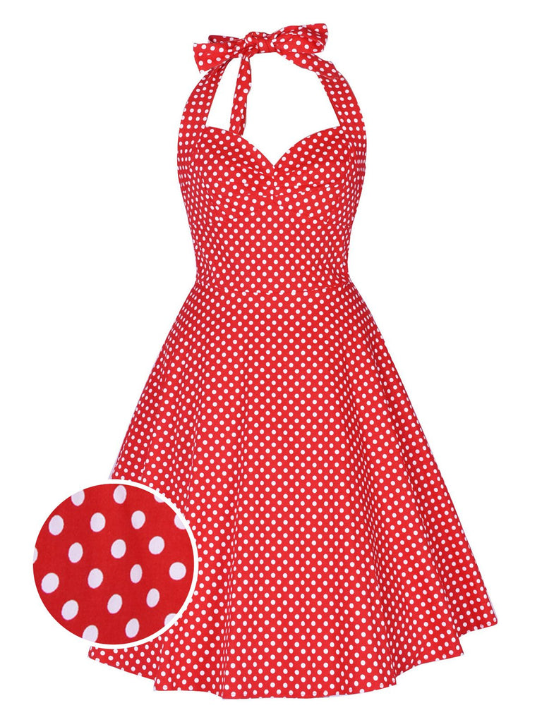 1950ER DOT NECKHOLDER ROCKABILLY SWING KLEID