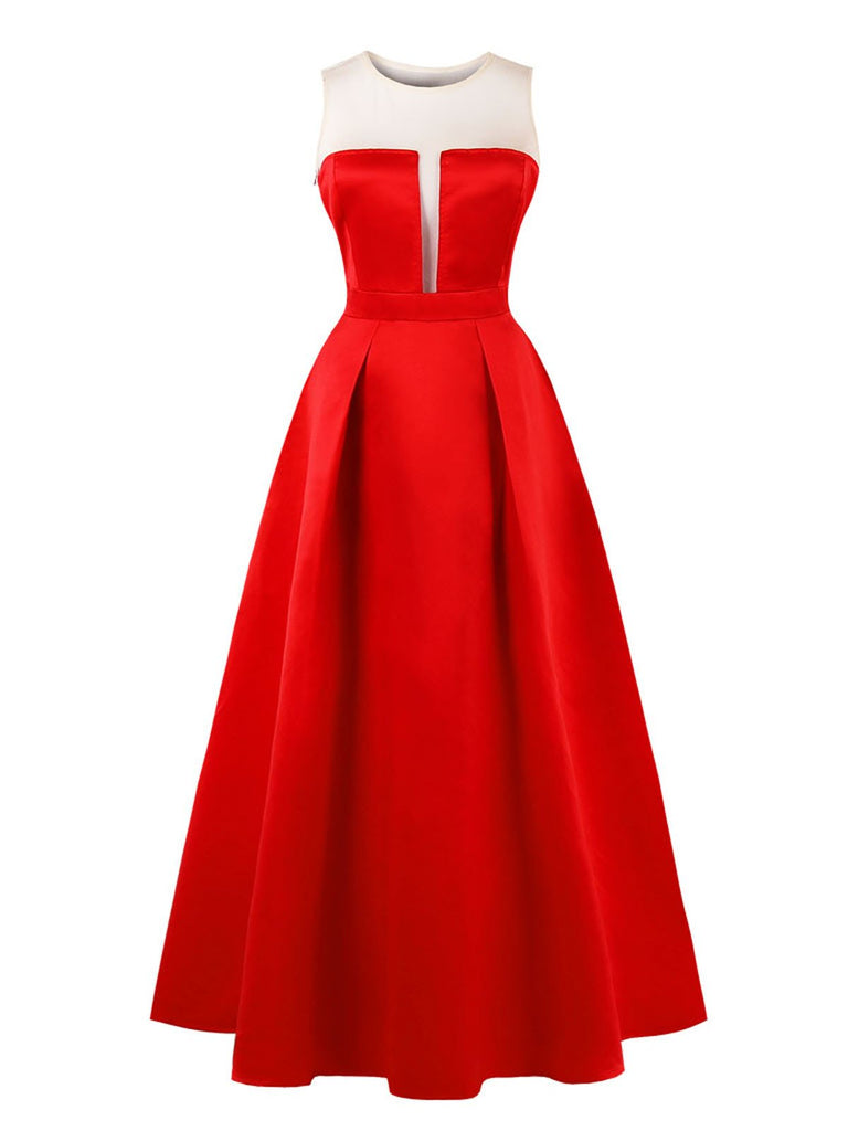 ROT 1950ER SWING PARTY KLEID