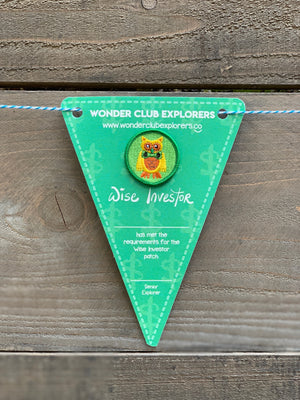 Wise Investor Merit Patch & Pennant