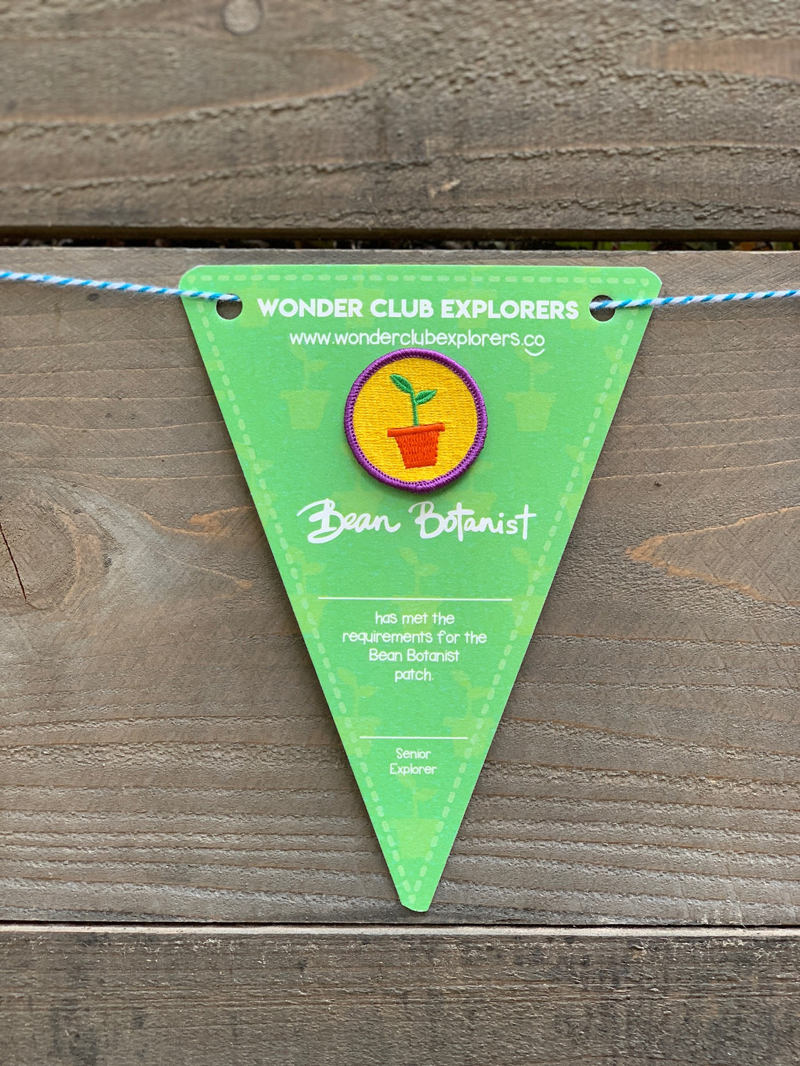 Wonder Club Explorer Bean Botanist Patch