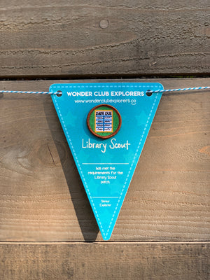 Library Scout Merit Patch & Pennant