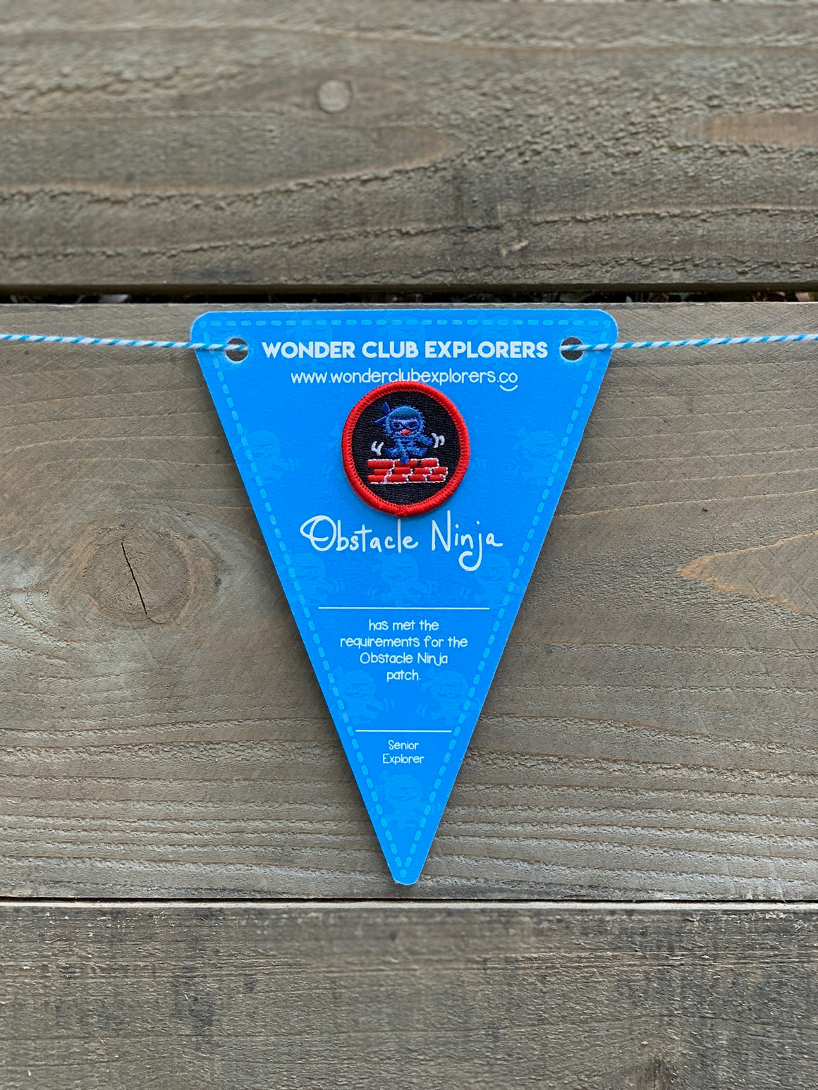 Obstacle Ninja Merit Patch & Pennant