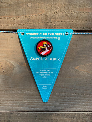 Super Reader Merit Patch & Pennant