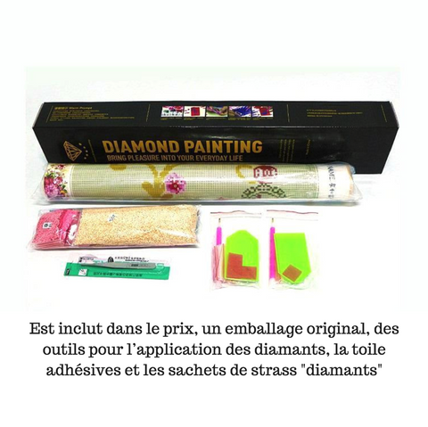 Image of Paon rose - Kit de Broderie Diamant