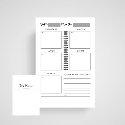 MEAL PLANNER - KDP Interior - Ready to Upload