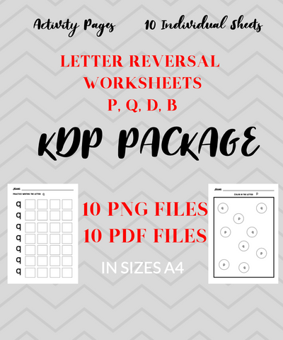 Letter Worksheets Package - 10 Letter Reversal Pages
