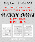 FUN Worksheets Package - 10 Activity Pages