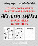 MATH Worksheets Package - 10 Activity Pages