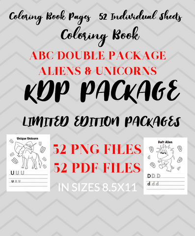 DOUBLE Coloring Book Package - A-Z ALPHABET BOOK