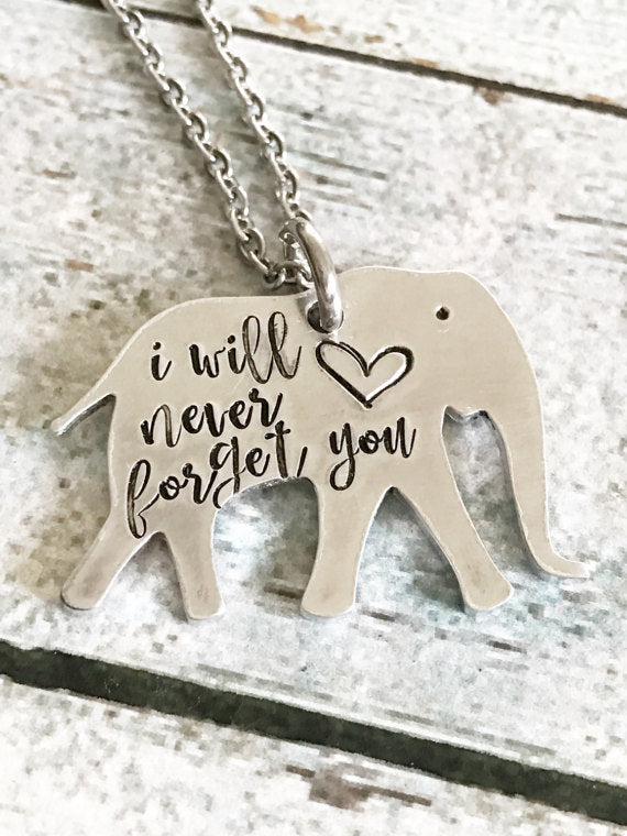 Elephant necklace - Special necklace - Hand