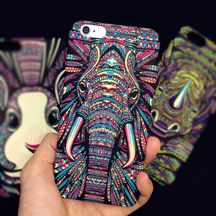 Colorful Aztec Elephant iPhone Case