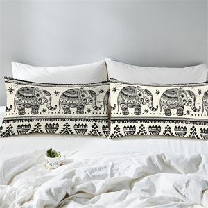Boho Elephant Pillow Case