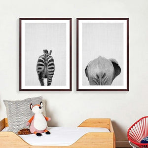 Animal Elephant Butt Canvas Print Modern Decor