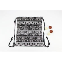 Elephant Drawstring Backpack