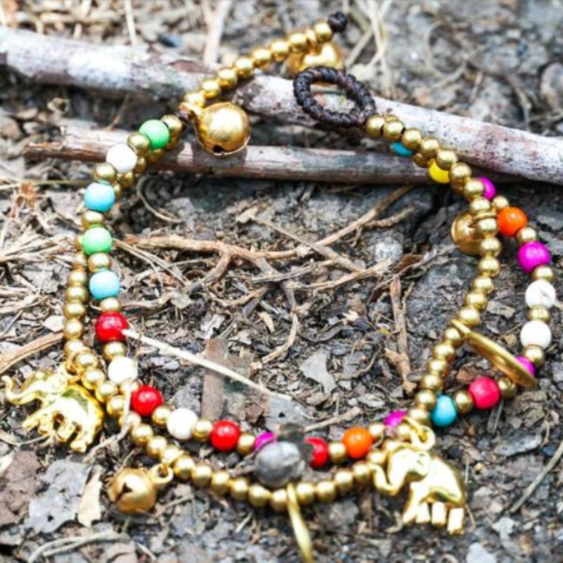 Multicolored Elephant Bracelet