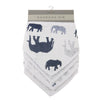 In The Wild Elephant Bandana Bibs Set of 4 -