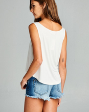 White Boho Elephant Yoga Crop Tank