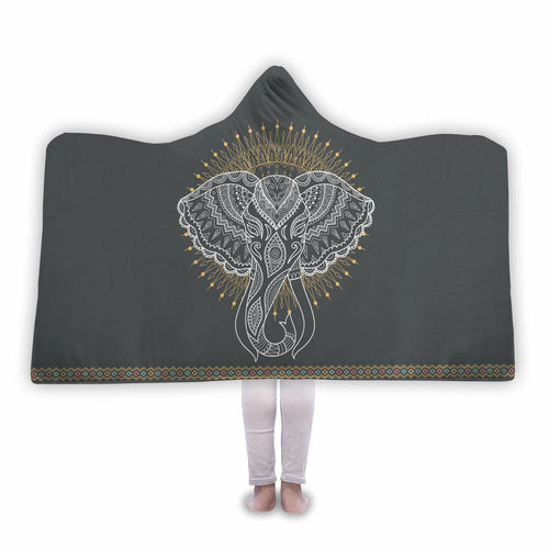 Awesome Elephant Hooded Blanket