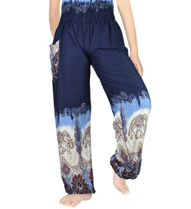Blue Ombre Elephant Harem Pants