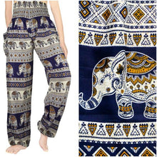 Navy and Gold Elephant Harem Pants