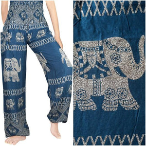 Blue Elephant Harem Pants