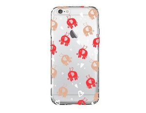 Flying Elephants - Clear TPU Case Cover