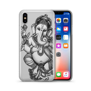 Sketch Ganesh - Clear Phone Cover