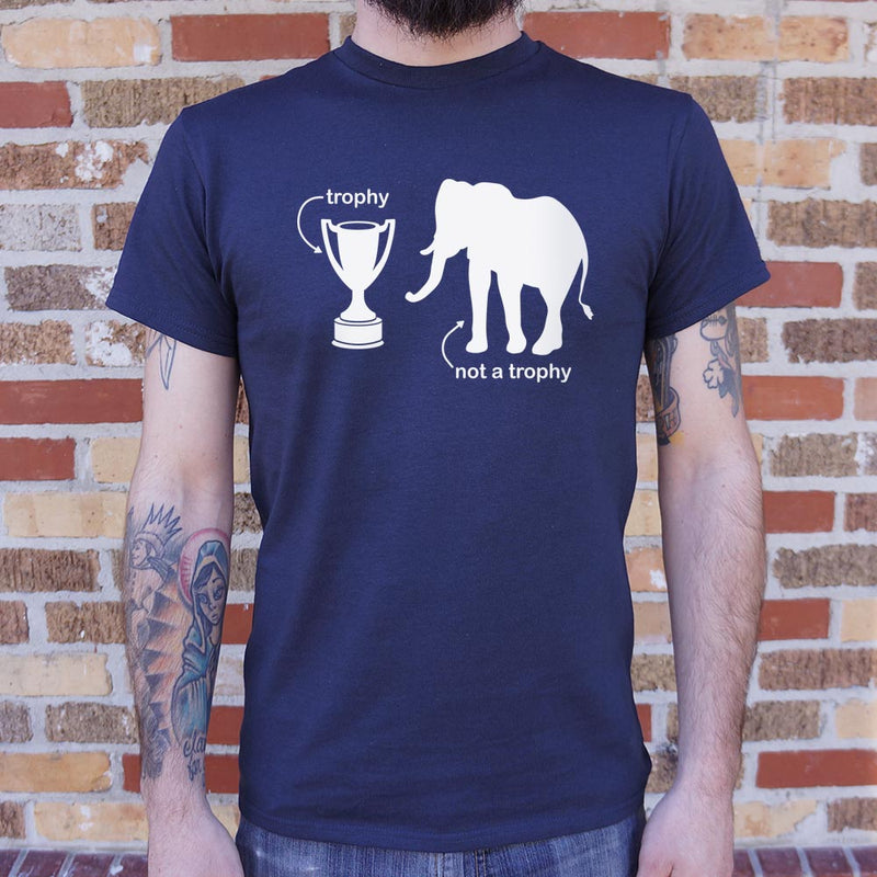 Not A Trophy Elephant T-Shirt (Mens)