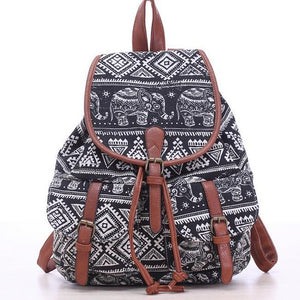 Leather Strap Elephant Backpack