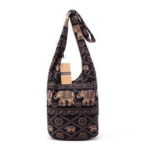 Elephant Print Crossbody Bag