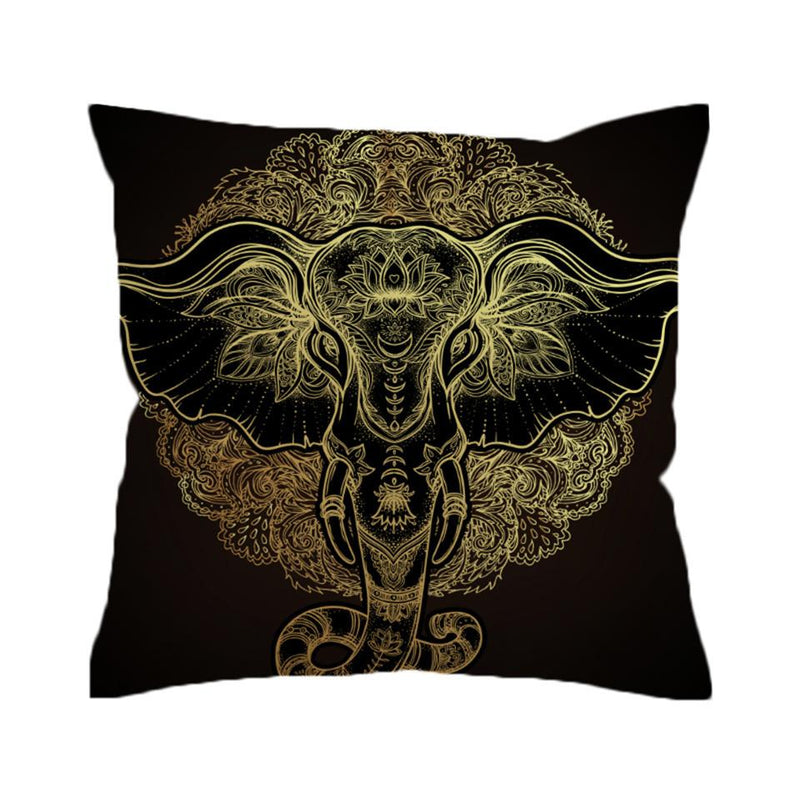 Tribal Elephant Cushion Cover Indian  Ganesha
