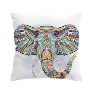 Indian Elephant Cushion Cover Bohemia Pillow Case