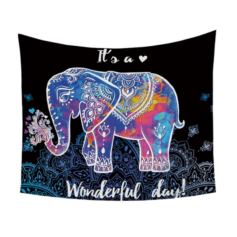 Colorful Elephant Wall Tapestry