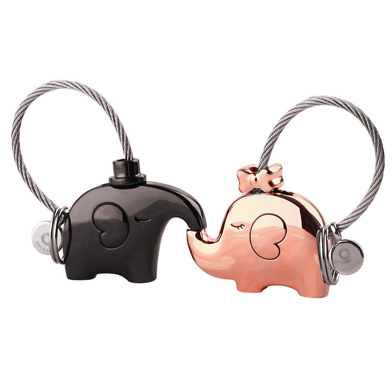 Couple's Elephant Keychain