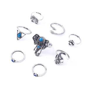 8pcs Boho Ring Set