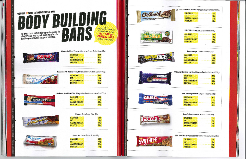 Fitness Magazine ranks Iso-Bar as one of the top nutrition bars in Canada.