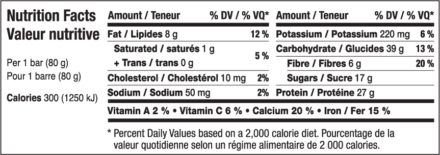 Almond Chocolate Chunk Nutritional Information