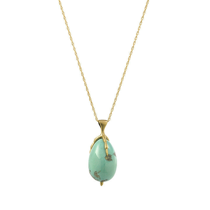 Turquoise Egg and Claw Necklace | Art + Soul Gallery