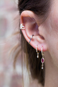 Dangling Diamond Eye Hoop Earrings | Art + Soul Gallery