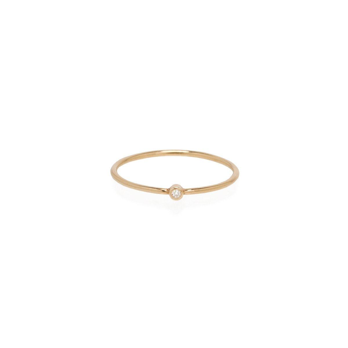 14K White Diamond Thin Band | Art + Soul Gallery