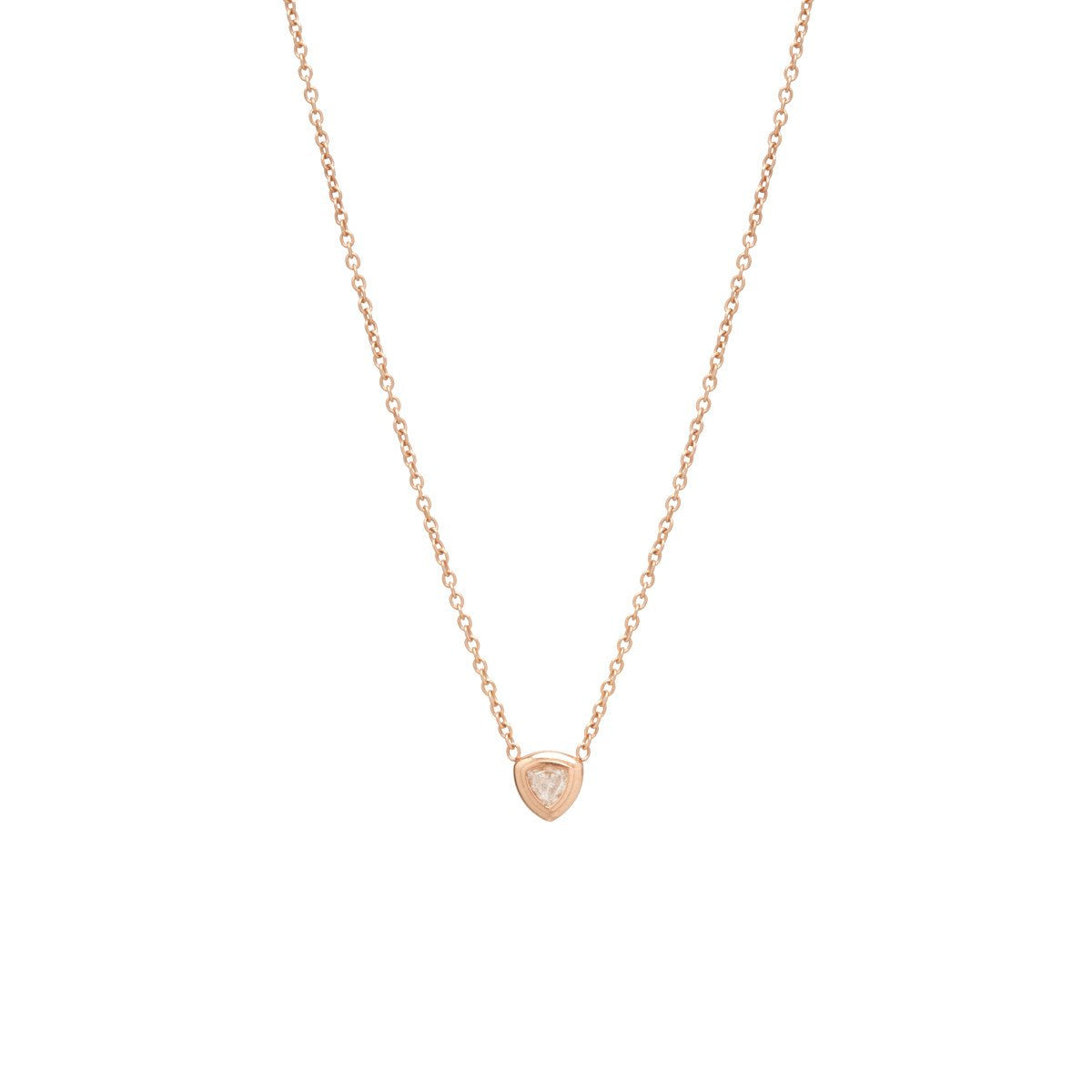 Small Trillion Diamond Necklace